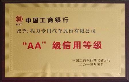 工商银行AA+信用企业